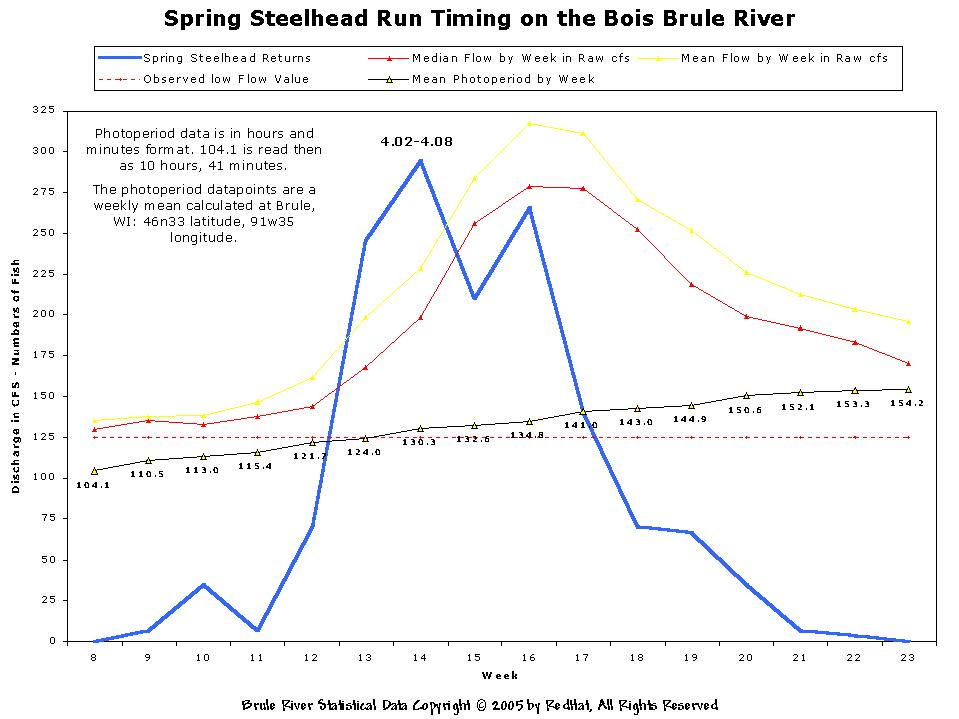 The bois brule river of northern wisconsin for Brule river fishing report