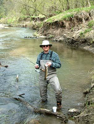 root river fisherman