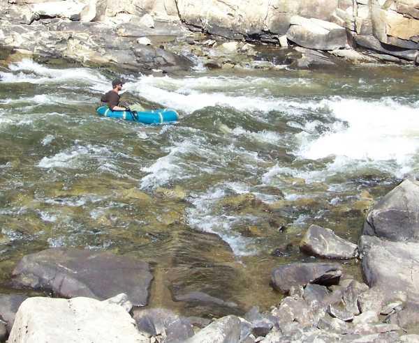 Lower Flipper Rapids Talachulitna Packraft