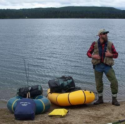 Packrafts on Judd Lake