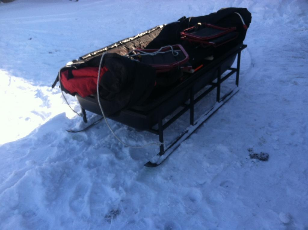 Home built portable fish house sled! | roughfish com